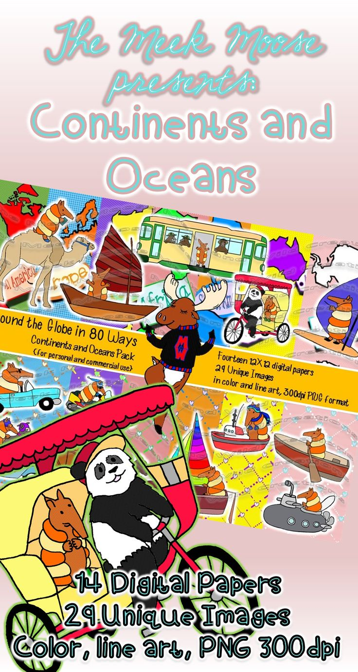 Coture clipart continent Oceans and great clip is