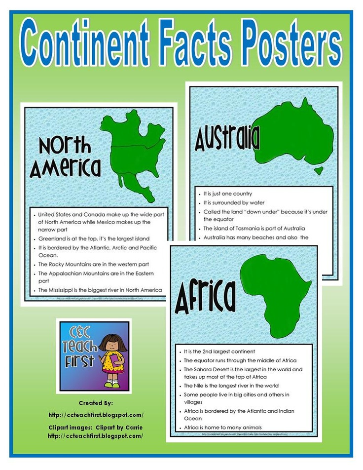 Coture clipart continent Images best Continents Continent Homeschool