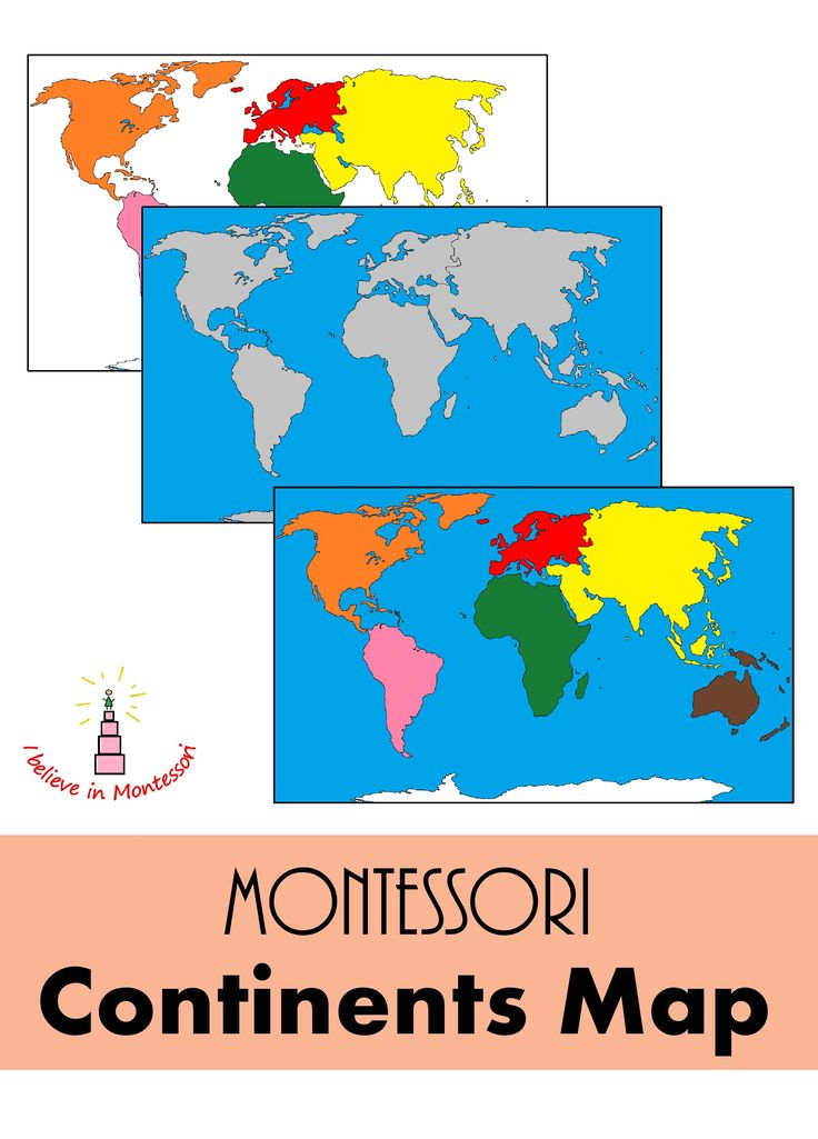 Coture clipart continent Images best Material Montessori Geography