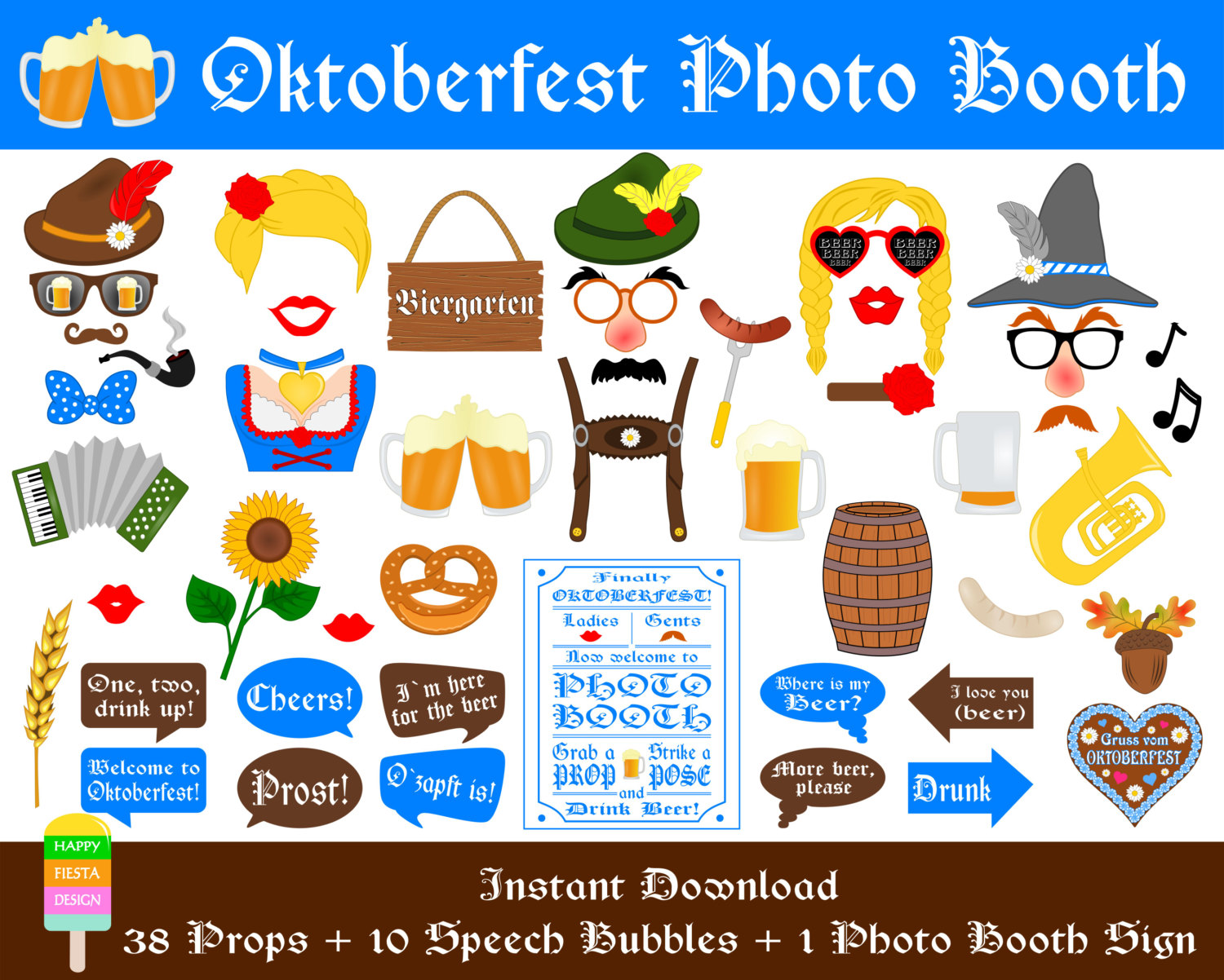 Coture clipart german Oktoberfest Props–Beer Etsy Beer Photo