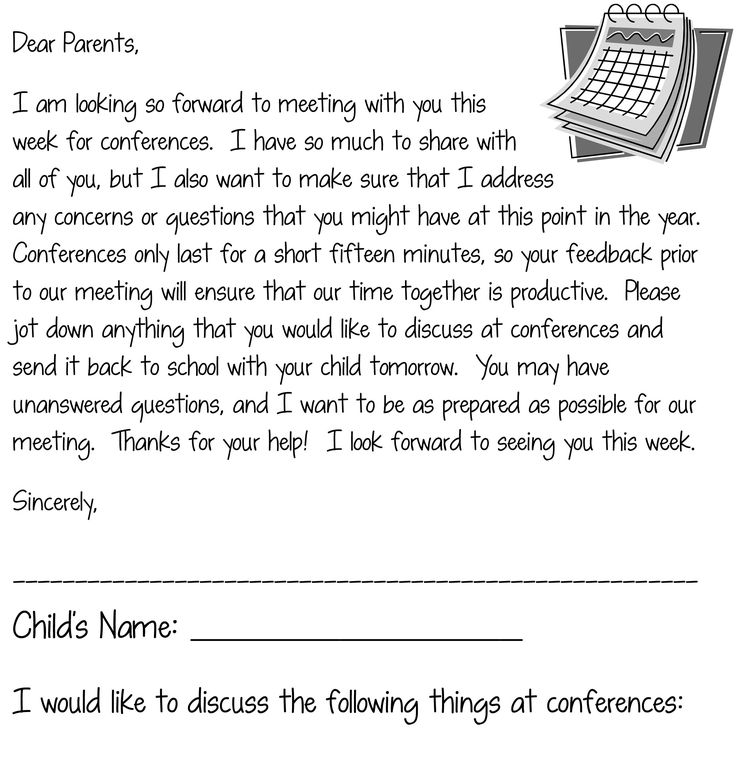 Coture clipart parent teacher Parent to Letter How Most