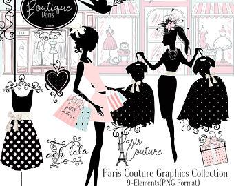 Coture clipart respect Silhouette paris art art Boutique