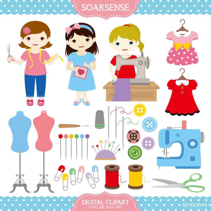 Coture clipart sibling On Sewing art best Clip