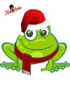 Toad clipart christmas #15