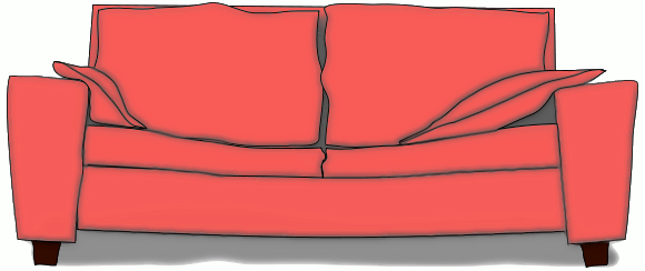 Couch clipart Free of Couch Clipart Public