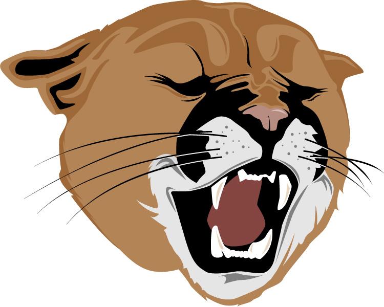 Cougar clipart Free Cougar Growling Clipart Cougar