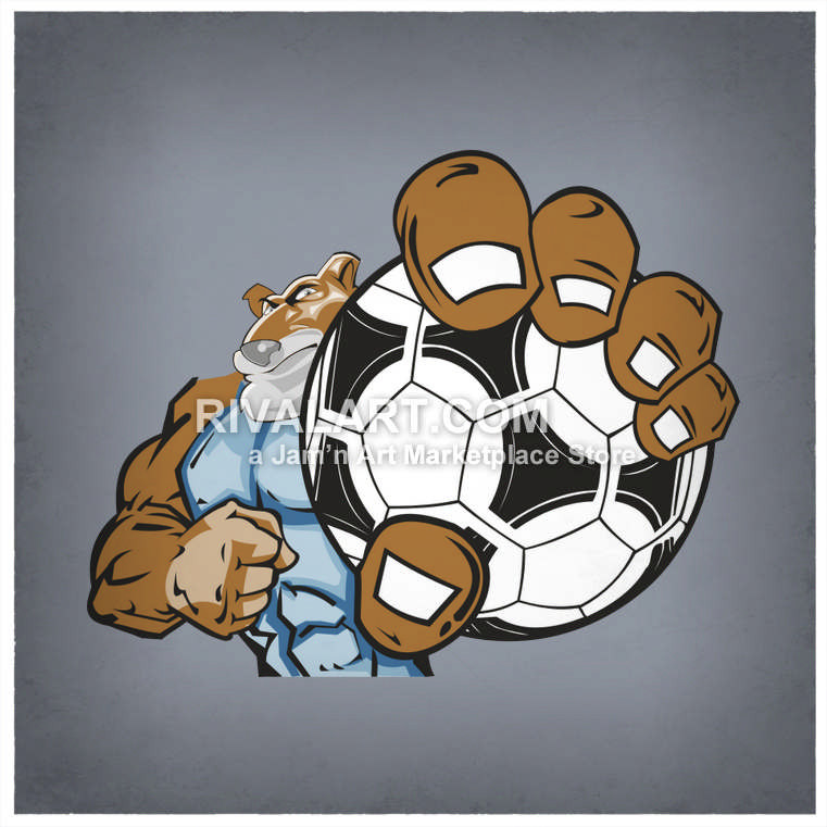 Soccer clipart cougar Ball A Graphic Soccer Cougar