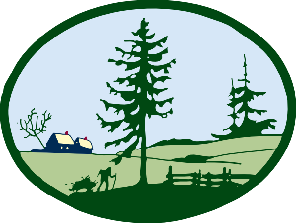Countyside clipart village school Panda Country Free Clip Clip