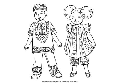 Country clipart african child Pages Page Children World Colouring