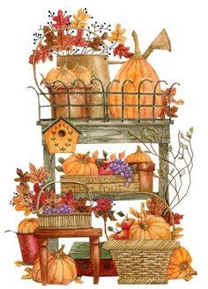 Country clipart autumn ♡ Diane ✿ ILUSTRAÇÕES by