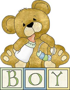 Teddy clipart yellow baby · Ursinhos TEDDY ART e