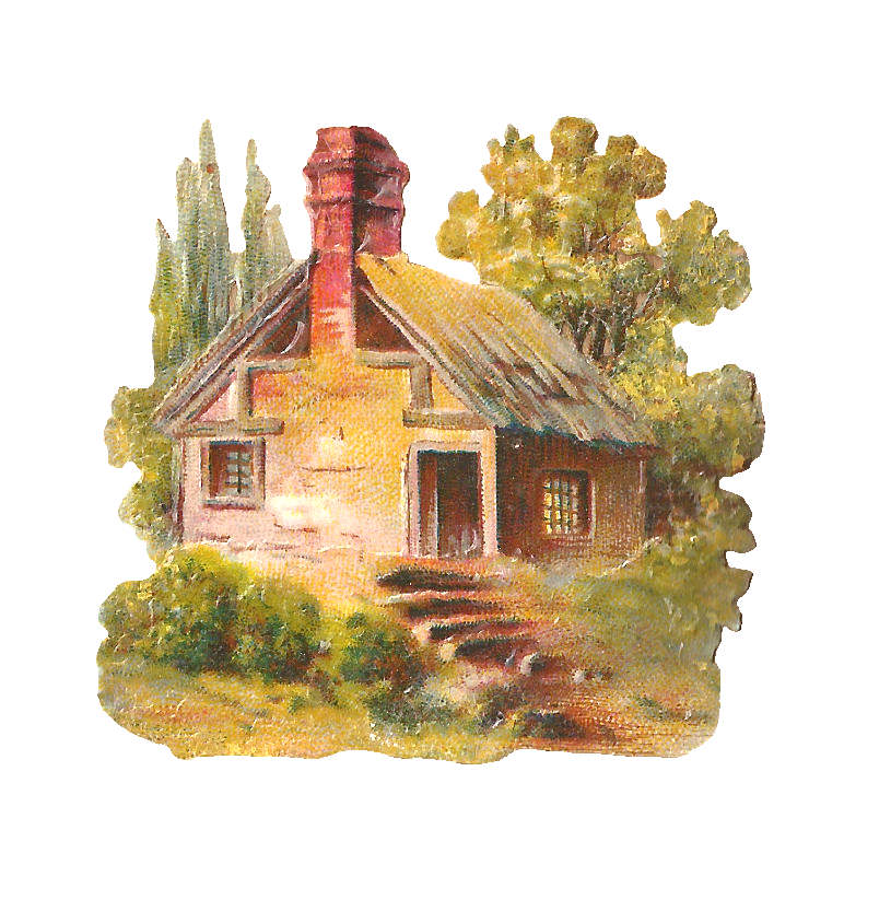 Country clipart beautiful house Art cottage  Clip House