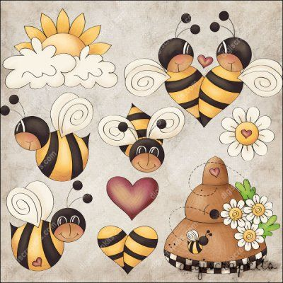 Country clipart bee Set clip Bee 263 images