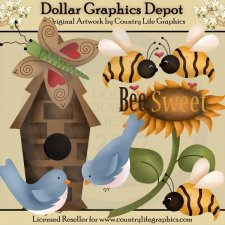 Country clipart bee / Dollar  Bee Insect