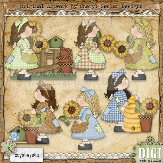 Country clipart birthday Best art images Girls Country