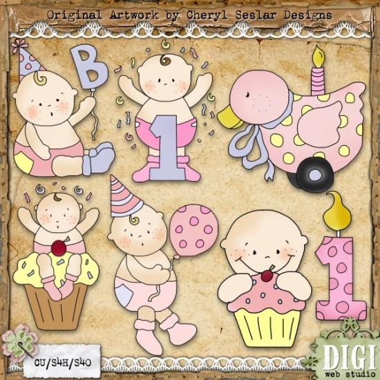 Country clipart birthday Digiwebstudio Girl Happy Seslar 1596
