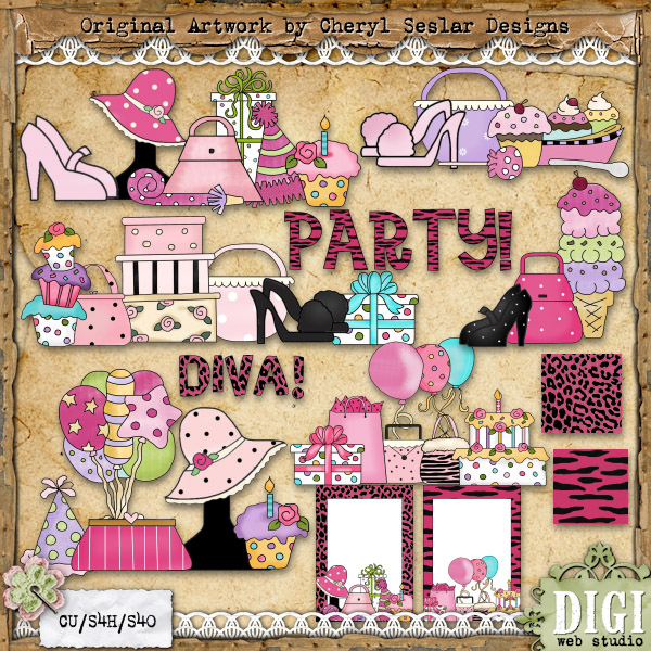 Country clipart birthday Seslar 1 Digi Country Party