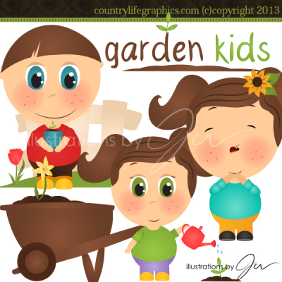 Country clipart child garden Life Country Kids Kids Clipart