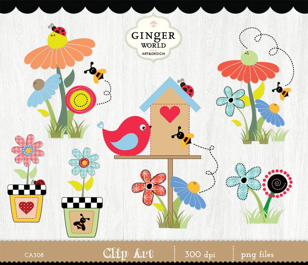 Country clipart child garden Art birdhouse clipart garden clip