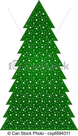 Country clipart christmas ornaments Tree Country bright csp6594311 decorated