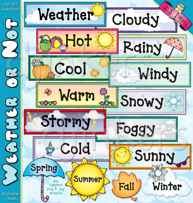 Word clipart winter Art Teacher ideas  weather
