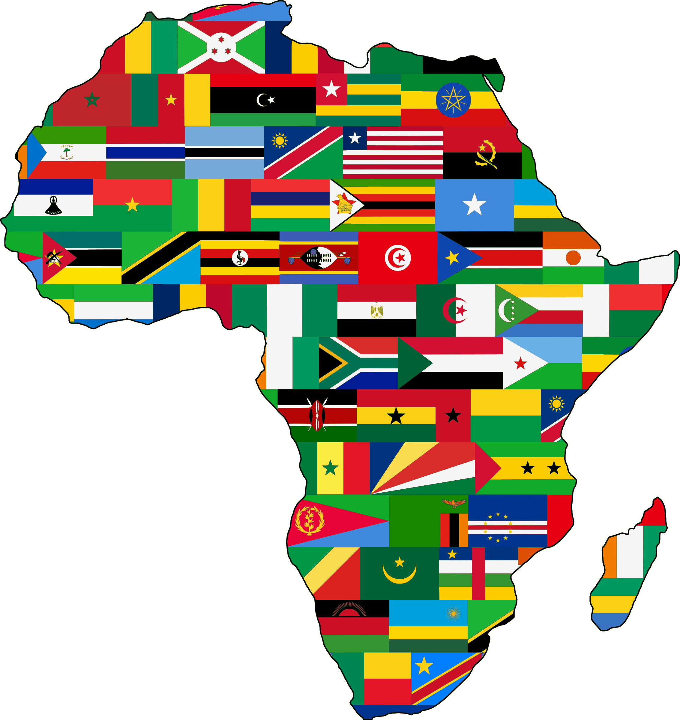 Continent clipart africa ClipartBarn 2 africa flags Clipart
