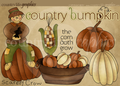 Country clipart crow & Bumpkin Graphics Bumpkin Country
