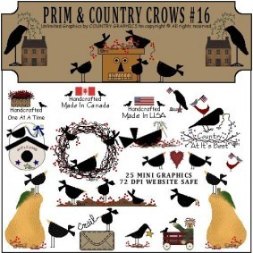 Country clipart crow Clip Country Graphics™ Bird Prim
