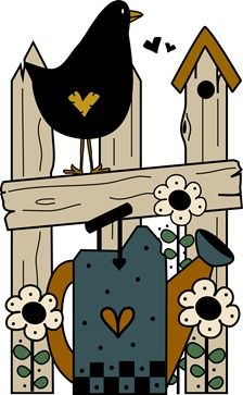 Country clipart crow Images CROW Clipart COUNTRY Primitive