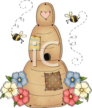 Bees clipart country Collection Clipart Free Art Christmas
