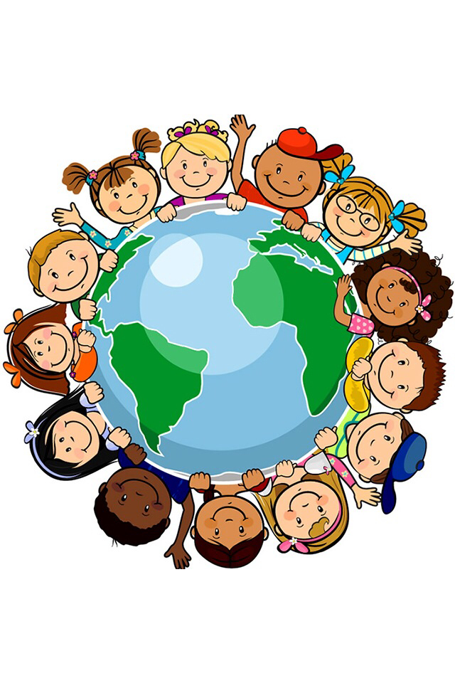 Country clipart different culture On character Children earth around