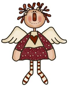 Doll clipart country Folk · Prim on by
