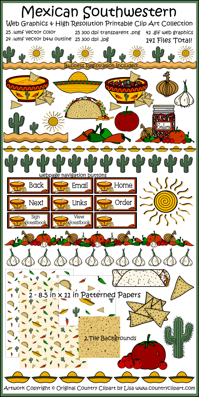 Country clipart garden borders Mexican Mexican Art Collection Art