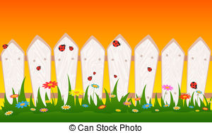 Background clipart fence Flower Fence background and Country