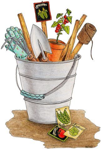 Vintage Flower clipart gardening Gardening best Pinterest Art on