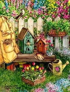 Country clipart garden shed Pinterest ArtCountry Janet by ·