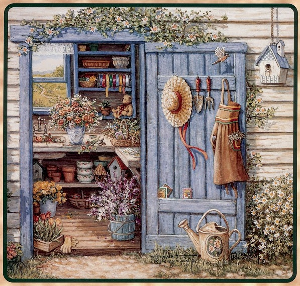 Country clipart garden shed  Pics Shed Garden images