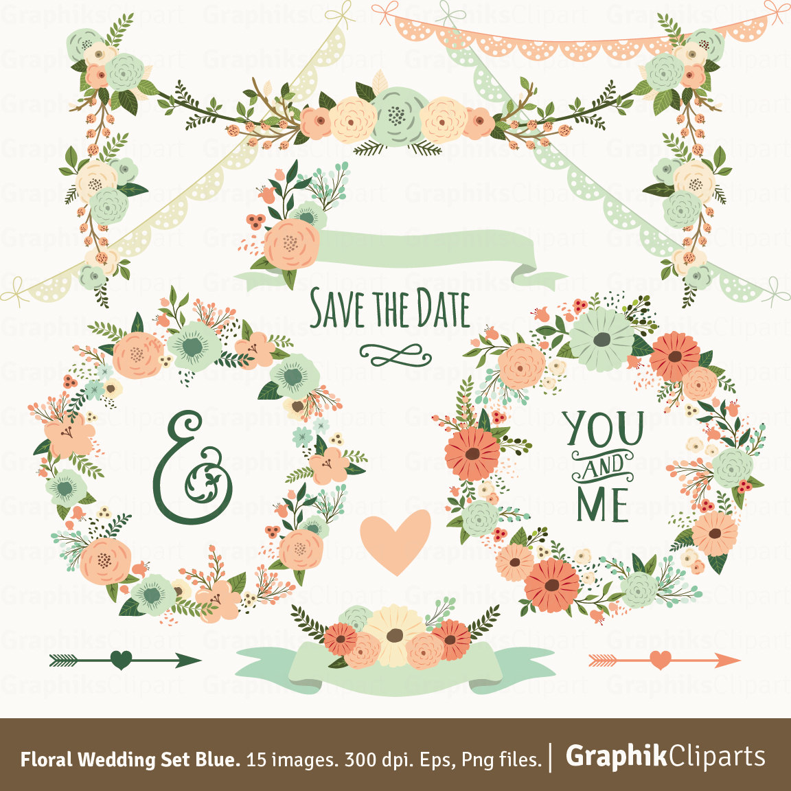 Country clipart garland Etsy CLIPART