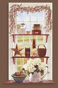 Country clipart kitchen window Images мастерская country kitchen на
