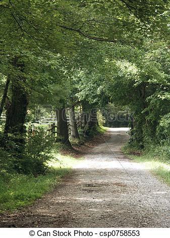 Country clipart lane View lane lane summer day