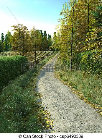 Country clipart lane Running Illustration of  csp6490339