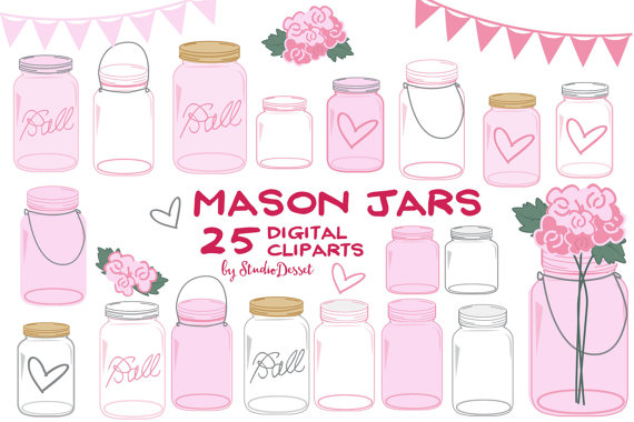 Country clipart mothers day Mother's Mason Clipart Jars Mason