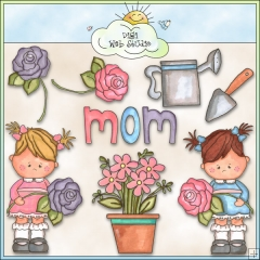 Country clipart mothers day Studio Cheryl Girl : Clip