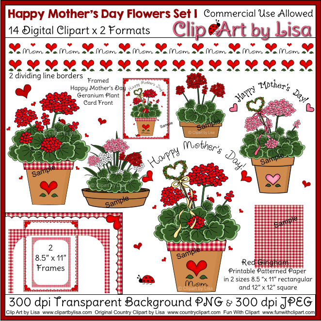 Country clipart mothers day Clipart mothers 1 Clipart flowers