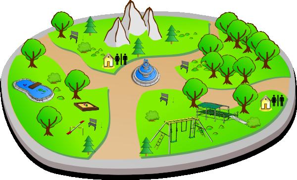 Country clipart public park Art  Park Clip as: