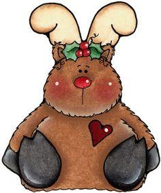 Country clipart reindeer Reindeer MOOSE CLIP ART clip