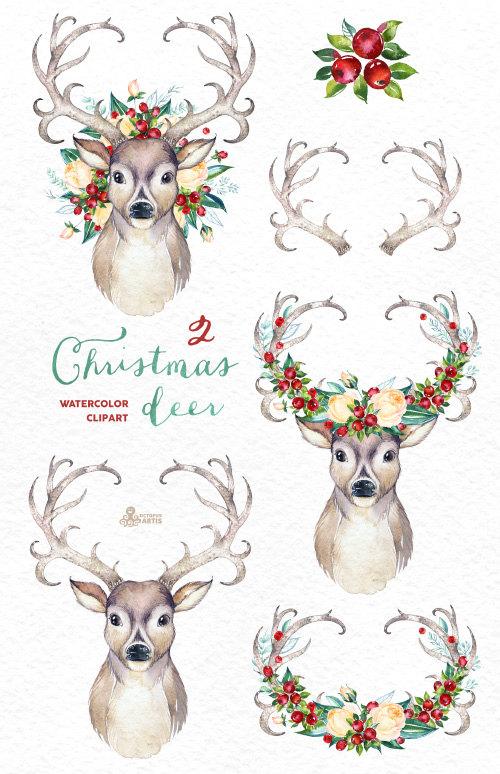 Country clipart reindeer Deer is file Christmas 2