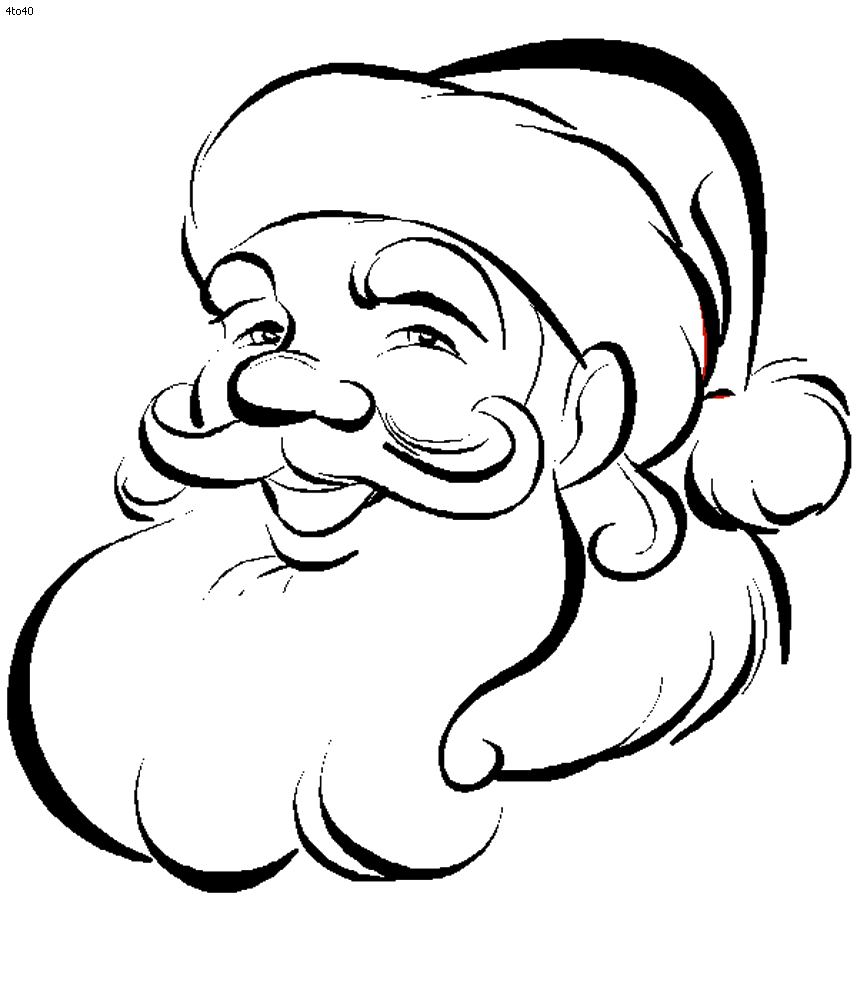 Drawn santa poor Pages coloring point santa kids
