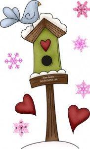 Bird House clipart cute mom  Winter Clip cute snowflake