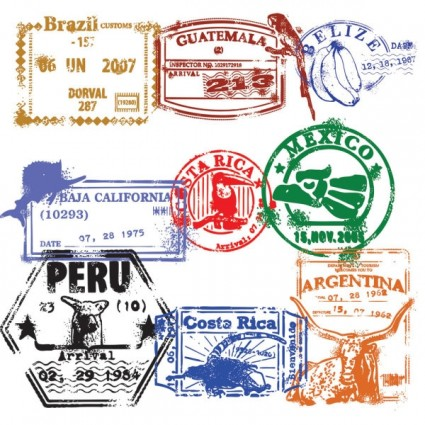 Stamp clipart passport #2